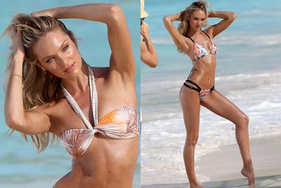 Uhh, except for Candice Swanepoel, the ridiculously fit Victoria's Secret Angel. The 25-year-old South African sizzled in florals and fluoros for her latest VS bikini shoot in the French Caribbean island of St Barts.<br/><br/>Candice fans, scroll to the end to see her recent star turn on the 2013 Victoria's Secret runway ... plus a few other Swanepoel surprises!<br/><br/>Images: Getty