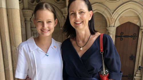 Madison Fanshawe with her mother Diane.