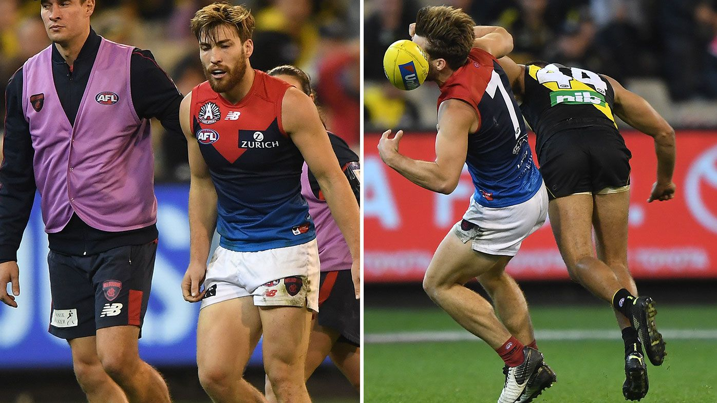 Sydney Stack's brutal bump on Jack Viney highlights dominant Tigers win