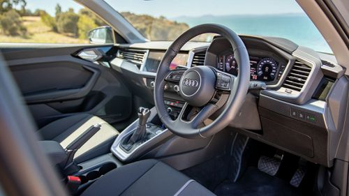 Well-appointed interior.