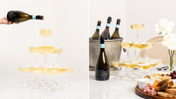 Sparkling wine tower with Jacob's Creek JACOB
