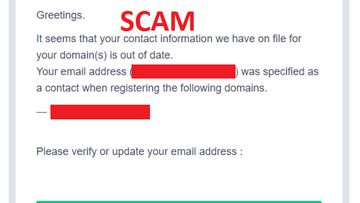 AU domain registrants have been warned to watch out for scam emails.
