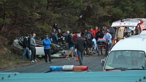 The scene of the crash in Ebisu.