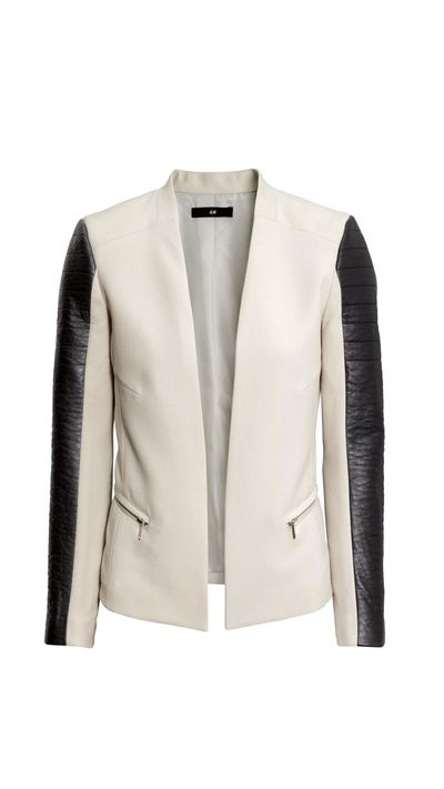 "<p>Switch out your office blazer for a polished cover-up with a little extra edge.</p><p><a href=""http://www.hm.com/au/product/68713?article=68713-B"">Blazer, $49.95, H&amp;M</a></p>"