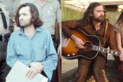 Left: Charles Manson / Right: Jeremy Davies