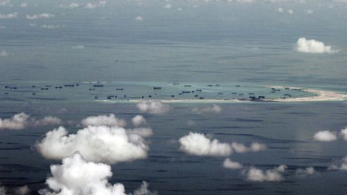 China claims most of the waters in the South China Sea. (AAP)