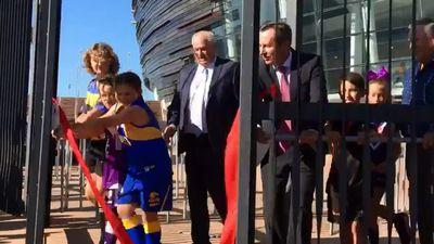 Gates open at Perth's new Optus Stadium
