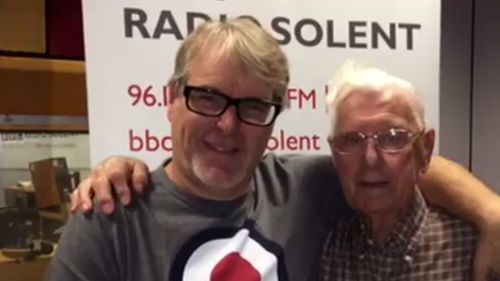 BBC Radio host Alex Dyke invited Bill in after the 95-year-old called to say how lonely he was. (Facebook)