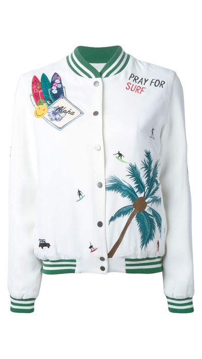 "<a href=""http://www.farfetch.com/au/shopping/women/-By-Mira-Mikati-embroidered-bomber-jacket-item-10997943.aspx"" target=""_blank"">Jacket, $858.70, ç by Mira Mikati at farfetch.com</a>"