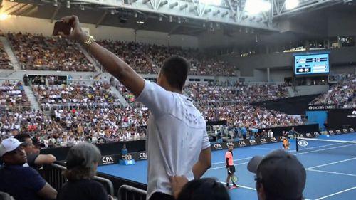 Zhu interrupted the Australian Open to prank Nick Kyrgios.