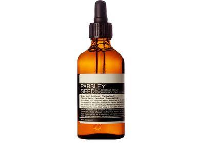 "<a href=""http://www.aesop.com/au/skin-care-1/parsley-seed-anti-oxidant-serum.html"" target=""_blank"">Parsley Seed Anti-Oxidant Serum, $69, Aesop</a>"