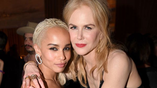 Zoe Kravitz with Nicole Kidman. Image: Getty