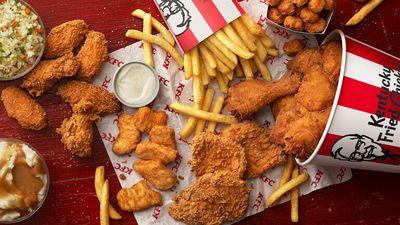 2. KFC (43 serving size / 3717 kJs)