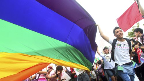 80 percent of Taiwanese people aged between 20 and 29 support marriage equality. (AAP)