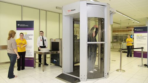 Full body scanners are already used at Australia's international airports. (AAP)