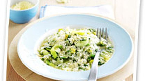 Spring leek and parsley risotto