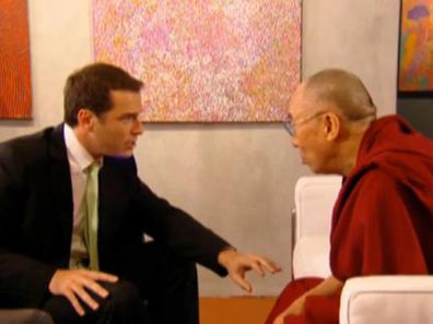 Karl Stefanovic with Dalai Lama