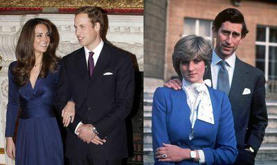 Kate Middleton's engagement ring once belonged to Princess Diana.