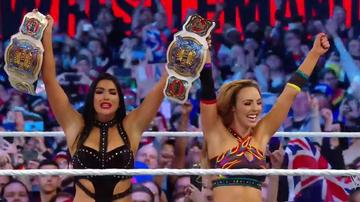 Aussie wrestlers Peyton Royce and Billie Kay make history at Wrestlemania
