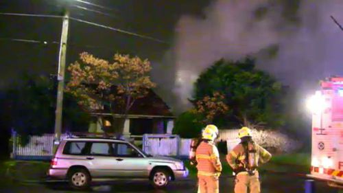 Suspicious fire tears through abandoned house in Melbourne's west