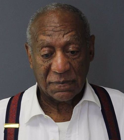 Bill Cosby's mugshot as he is booked into jail after his conviction.