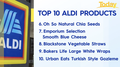 Urban Eats' Turkish Style Gozleme rounded out Aldi's top 10.