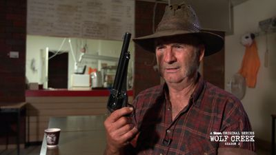 Wolf Creek's John Jarratt gave us a real-life Mick Taylor moment and it was terrifying