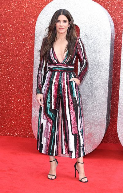 Sandra Bullock in Zuhair Murad at the London premiere of<em>Oceans 8</em>