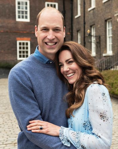 Two new portraits of Prince William and Kate, the Duke and Duchess of Cambridge, released by Kensington Palace to celebrate their 10 year wedding anniversary. royal wedding
