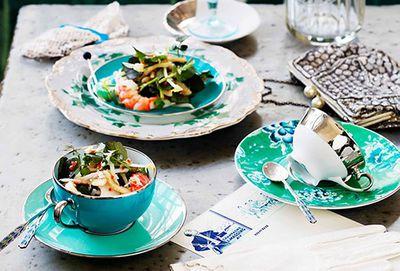 Pork, prawn and watercress salad
