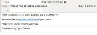 Optus scam: Warning over emails hitting inboxes across the