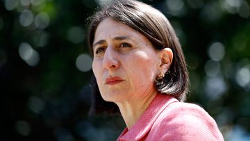 NSW Premier Gladys Berejiklian speaks during a press conference at NSW Parliament House