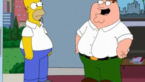 Homer Simpson Peter Griffin