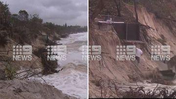 Man falls from walkway at Byron Bay Beach