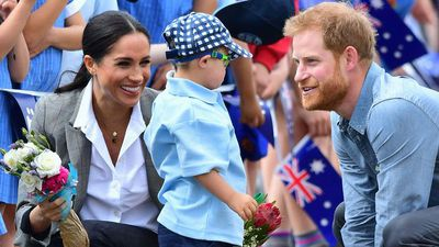 Prince Harry and Meghan Markle in Dubbo, Wednesday October 17 2018