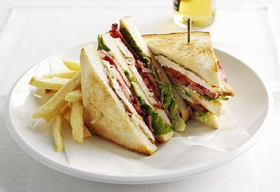 Lunch: Chicken club sandwich