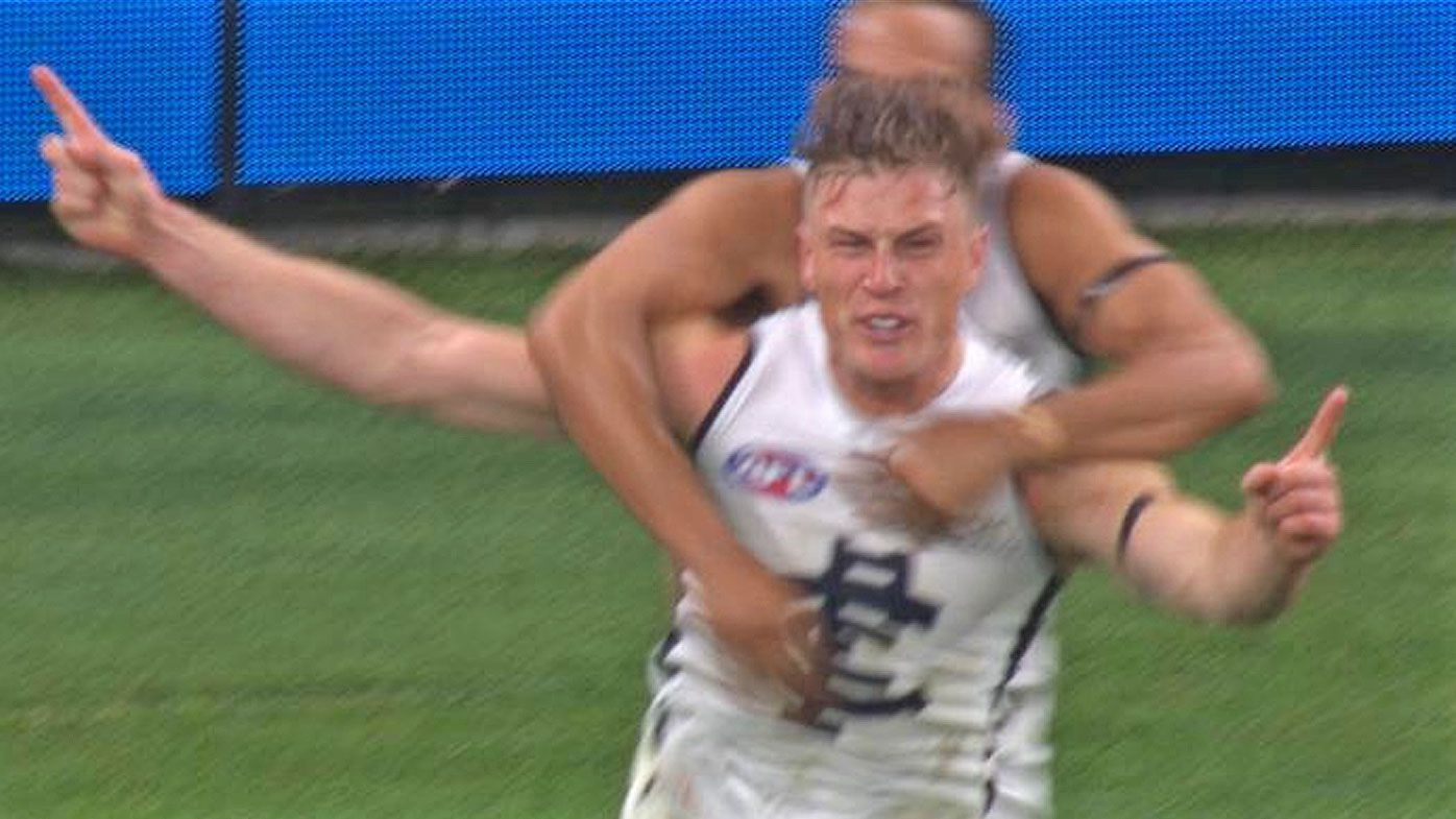 Jack Newnes kicks the game-winner