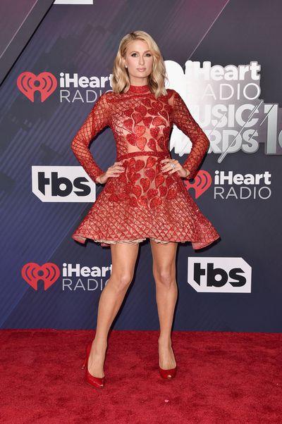 Paris Hiltonat the 2018 iHeart Radio Music Awards in Los Angeles