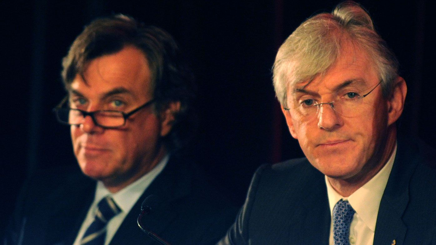 Peter and Steven Lowy earnt a total of $26.3m in FY15 (AAP Image/Dean Lewins).