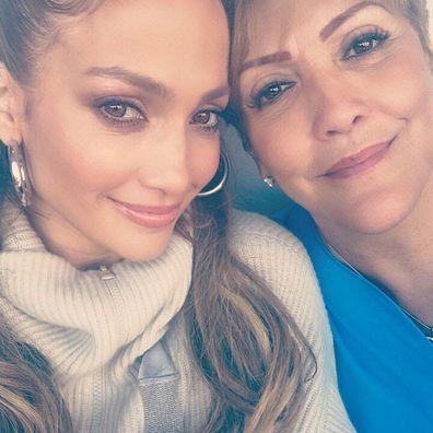 Jennifer Lopez and mum Guadalupe.