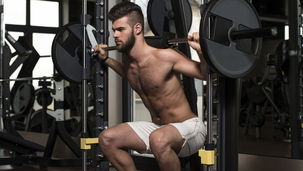 The Smith machine places far too much pressure on the knees during a squat,  experts say. (image) iStock