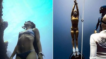 Sofia Gomez Uribe free diving