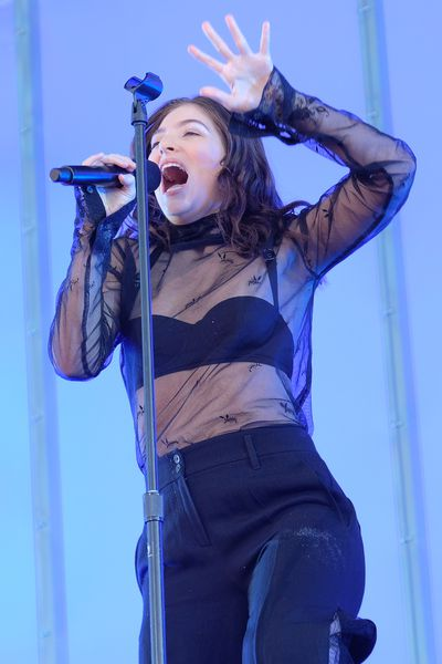 Lorde at the Governor's Ball Festival in the US, June.