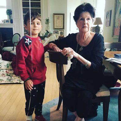 Selma Blair's mother Molly and her son Arthur.