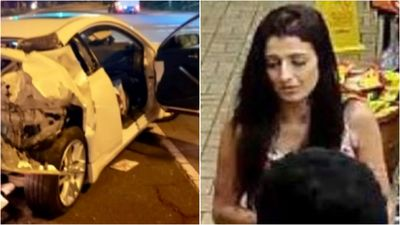 Woman's purse stolen in car crash aftermath