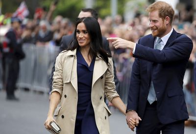 Meghan and Harry on a walkabout in Melbourne, October 2018