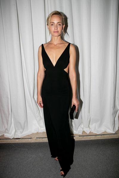 Supermodel Amber Vallettaat the 2018 amfAR Gala in Milan, September, 2018