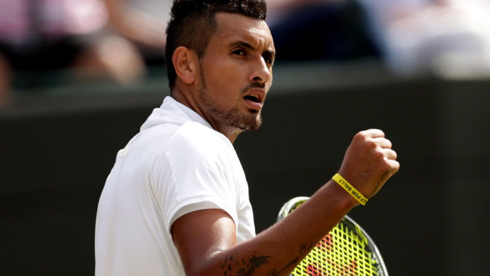 Kyrgios fired up in Wimbledon tussle