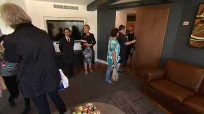 There was plenty to see today with five luxury apartments and two common areas. (9NEWS)