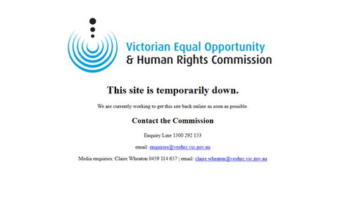 Victorian Human Rights Commission website hacked